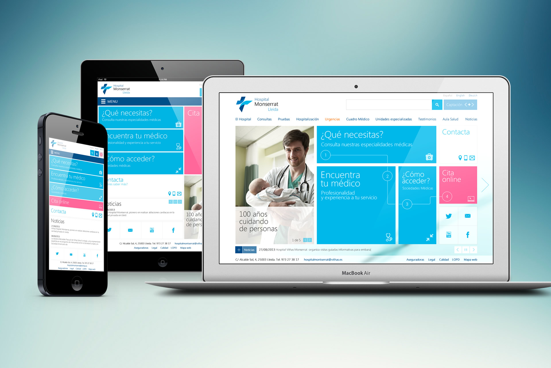 Website Vithas. Responsive Web Design. HTML5/CSS3